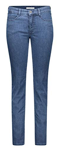 MAC Jeans Damen Angela Slim Jeans, Mid Blue Basic Wash, W34/L30