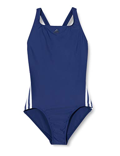 adidas Girls Fit Suit 3s Y One Piece Swimsuit, Tech Indigo/White, 1112Y
