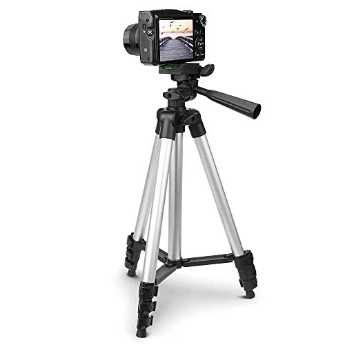 subtel® Leichtes Kamera Stativ als Fotostativ oder Videostativ, Kleines Reisestativ höhenverstellbar 0.35m - 1.06m Dreibeinstativ ausziehbar schwenkbar neigbar für Camcorder Videocamera Camera Tripod