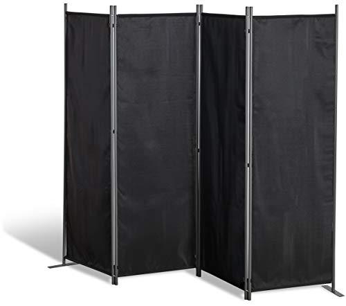 GRASEKAMP - Paravientos de Calidad Desde 1972, 4 Piezas, Color Negro, Separador de ambientes, privacidad, separación de Balcones