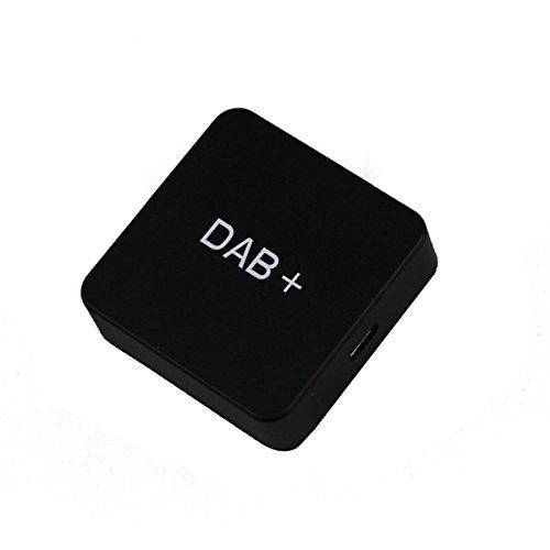 LIOOBO Receptor de Radio Dab para automóvil Vehículo Radio Estéreo Audio Transmisor Dab Externo y sintonizador de Radio Digital