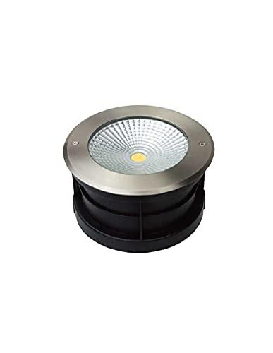Spot LED Extérieur à Enterrer ou Encastrer 24W (éclairage 200W) IP67 - Blanc Chaud 3000K