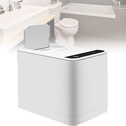 LXNQG Baño Papel Higiénico Trituradora, Inteligente Silencioso Servilleta Sanitaria Procesador Impermeable Botón Táctil Bote de Basura, Fácil de Usar