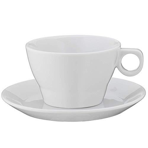WMF Barista Cappuccinotasse, mit Untertasse, 150 ml, Porzellan, spülmaschinengeeignet
