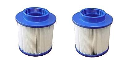 Smart Spa Supply SPPAS101-2 Go Plus Aqua Spa Filter Cartridge, White and Blue