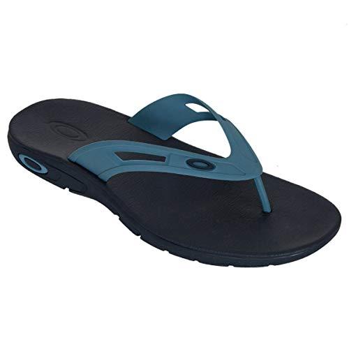 Oakley Ellipse Mens Flip Flop Sandals Foggy Blue 11 USA