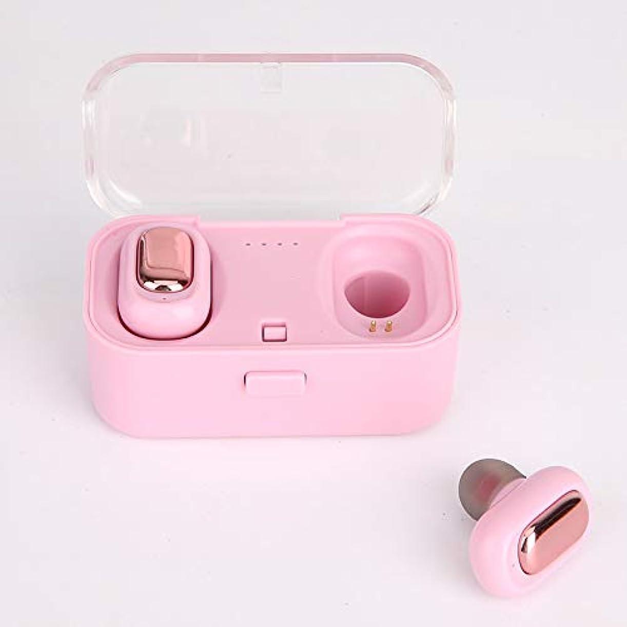 バケットつづりヘッジOHQ True HIFIワイヤレスBluetooth 5.0ヘッドセットSport Earbuds Twins Ear Stereo(Pink)