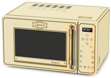 Kaiser Empire-microonde in avorio,25 l con griglia e aria calda/1000 W Grill/ 2300 W aria calda/controllo Full TouchControl/vetro frontale/maniglia in metallo bronzo con 21 funzioni/timer/memory
