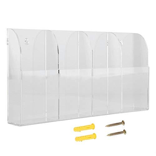 FTVOGUE - Funda para mando a distancia, soporte de pared de acrílico transparente, caja de almacenamiento para aire acondicionado, estéreo, mando a distancia de TV
