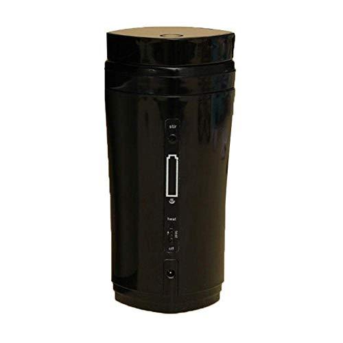 XGBDTJ Tragbar Thermobecher Metra Automatischer Wiederaufladbarer Beheizter Becher Mit USB Trinkbecher Thermobecher Mode Living West Loop Cup (Color : Schwarz, Size : Size)