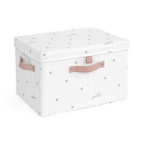 Caja de almacenamiento de la colcha con tapas de gran capacidad de gran capacidad Organizador plegable Organizador Organizador Libro Juguetes Juguetes Manta Caja de almacenamiento ( Size : Medium )