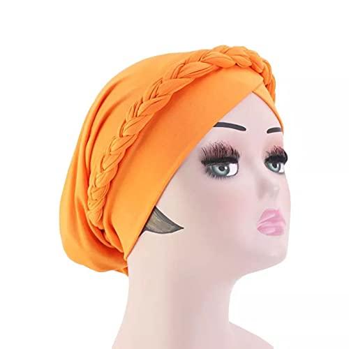 Dingyi Mujeres Estilo Bohemio Turbante Flor Hijab Gorra Sombrero Accesorios para el Cabello Turbante Bufanda Musulmana Gorro Noche Baotou Cap
