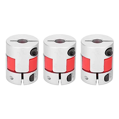 3 Pcs Flexible Coupler, D25 L30 Shaft Coupling, Aluminum Alloy Lead Screw Connector Compatible with 3D Printer CNC Machine and Servo Stepped Motor(8-8mm)