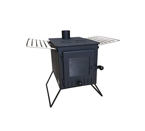 Outbacker 'Firebox' Large Window Eco Burn - Secondary Burn Portable Tent Stove (Black)