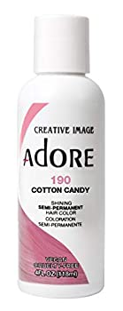 Adore Semi-Permanent Haircolor #190 Cotton Candy 4 Ounce  118ml   2 Pack