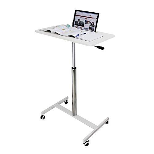 Mesa de cama con ruedas, mesa auxiliar de sofá ajustable en altura, bandeja lateral portátil para refrigerios, escritorio de computadora móvil, ideal para leer, desayunar, computadora portátil, ayuda
