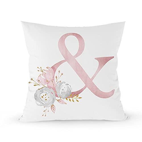 Conjunto de almohadas de rosa de lino de lino de almohada de almohada de lino nórdico, almohadilla, almohadilla, conjuntos de almohadilla, conjuntos de almohadilla de la oficina de San Valentín.-Y_B