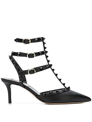 Moda De Lujo | Valentino Garavani Mujer VW2S0375VB80NO Negro Cuero Zapatos De Tacón | Ss21