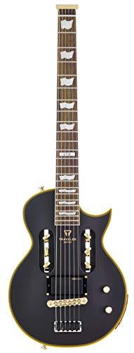 Traveler Guitar 6 String Solid-Body Electric Guitar, Right, Vintage Black (EC1 VBKM)