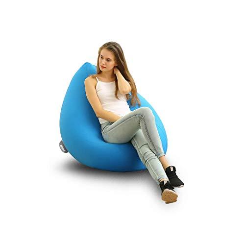 Sillón Poof de máximo Confort y Descanso con Funda removible Strech de Lycra Suave Lavable en casa, sillón Ideal para niños,...