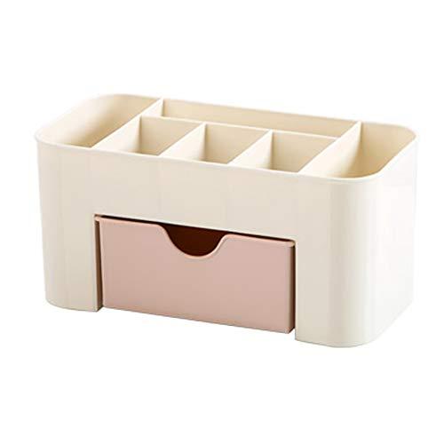 Cosmetische opbergdoos, sieradenhalsketting vitrine voor bureaublad of dressoir Slaapkamer Make-up Houder roze