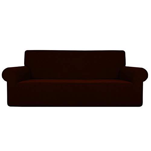 SODIAL Color sólido Impermeable Cojín del sofá Funda del sofá Almohadilla Antideslizante para Mascotas Pa?al Four Seasons Sofá Toalla Nordic Universal Deep Coffee
