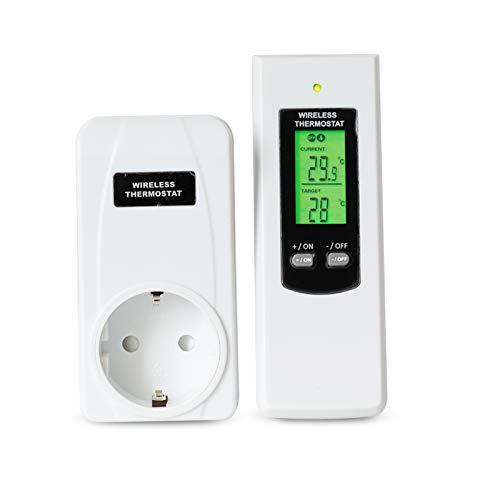 ACHICOO TS-808 automatische draadloze thermostaat met LCD-afstandsbediening