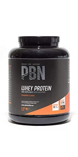 PBN - Proteína de suero de leche en polvo, 2.27 kg (sabor fresa)