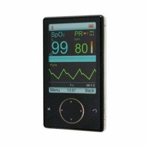 Pulsiossimetro saturimetro portatile da dito con allarmi e sonda intercambiabile adulti SAT-900