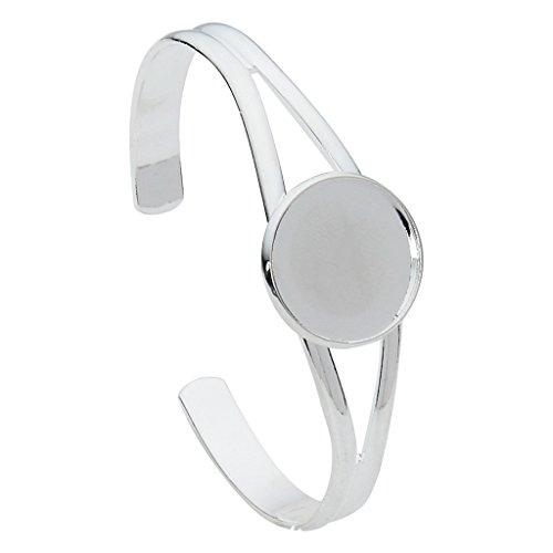 Hellery 20mm Runde Lünette Cabochon Basis Armband Manschette Armreif Einstellung Rohlinge Ergebnisse