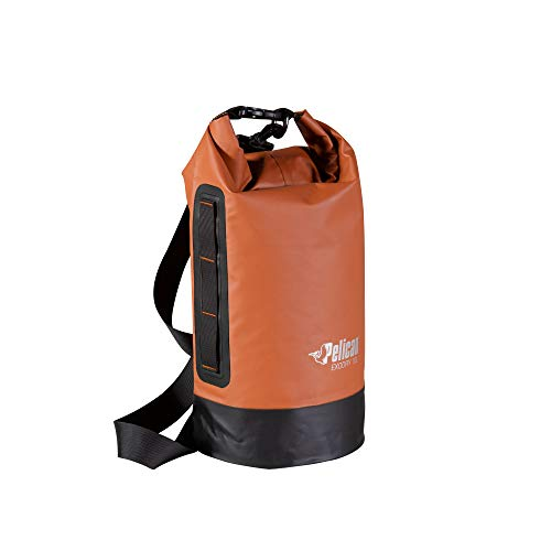 Pelican Waterproof Dry Bag  Exodry  Thick amp Lightweight  Roll Top Dry Compression Sack Keeps Gear Dry for Kayaking Boating Beach Rafting Hiking Camping and Fishing 10L Terra Black Gray
