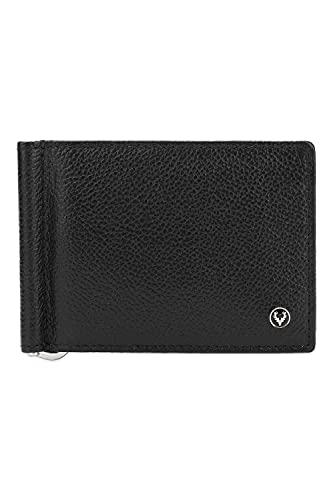ALLEN SOLLY Bi Fold Closure Leather Mens Casual Wallet (S21ASWRGBF40018001, Black, Free Size)