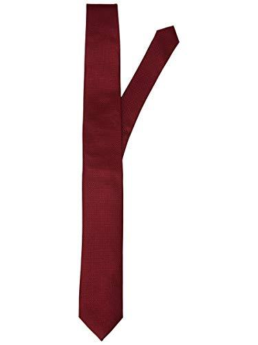 JACK & JONES JACCOLOMBIA Tie Noos Corbata, Marrón (Fudge Detail/Solid), Talla única para Hombre