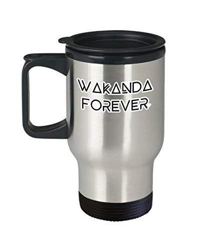 Wakanda Forever Koffie Mok Cup (Reizen) 14 Oz Marvel Zwarte Panter Tchalla Quote Merchandise Gifts Shirt Sticker Decal Art Decor Accessoires