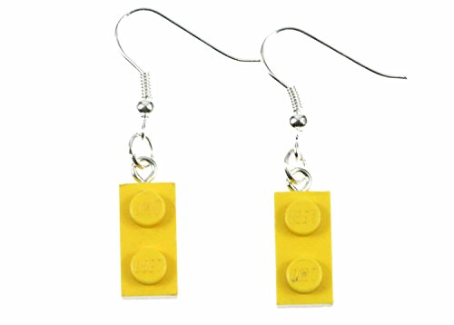 Lego Ohrringe Hänger Miniblings Spiel Spiele Upcycling Legoplättchen 2er gelb