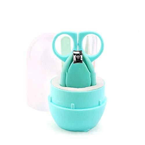 Hiinice Kit de manicura del Cuidado del bebé con el Caso de uñas del bebé Clippers Tijera Archivo Pinzas para un Infante recién Nacido del niño Verde