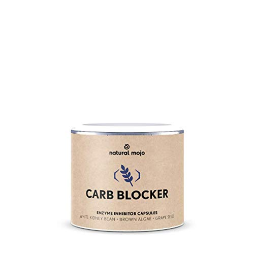 Natural Mojo Carb Blocker – 90 Kapseln Kohlenhydratblocker – Fitness Kapseln mit wertvollen Inhaltsstoffen – nährstoffreiches Nahrungsergänzungsmittel – Vegan
