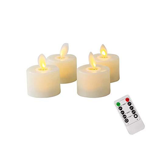 Vela led Electricas,Sin cera y fuego,Fino exterior pequeña decorativas,Realista llama efecto,Función de...