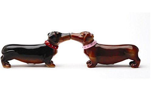 Pacific Giftware Loveable Cute Kissing Dachshunds Salt & Pepper Shakers Set