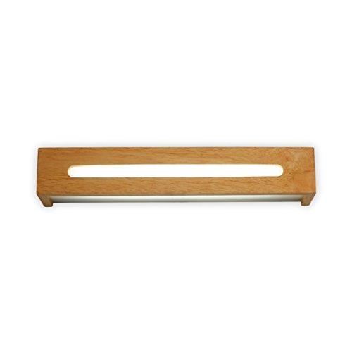 LightSeiEU simple, nordique et lampe de mur de couloir lampe de chevet chambre d'escalier en bois élégant avant que le bois d'éclairage feux de miroir de salle de bain LED (Couleur : Blanc-S)