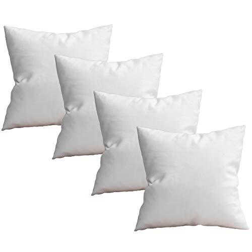 Pack 4 Relleno de cojín de 45 x 45, Fibra, Costuras internas, Gran Densidad y Volumen para Cojines de sofás, Camas, (4, 50x70 cm)