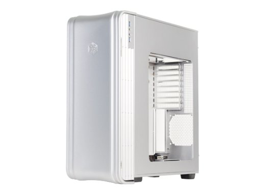 Silverstone Extended-ATX Tek Aluminum Full Tower Computer Case, Silver FT04S-W