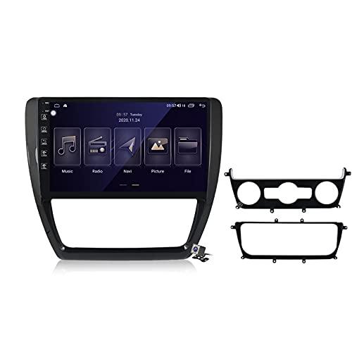 Gokiu Android 10 2 DIN Radio De Coche Navegacion GPS para Volkswagen Jetta 6 2011-2018 Soporte 5G WiFi DSP/FM Am RDS Radio de Coche Estéreo Carplay Android Auto/Bluetooth SWC,M150