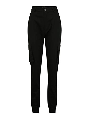 Missguided (Tall) Damen Cargohose TALLPLAIN schwarz 8 (36)