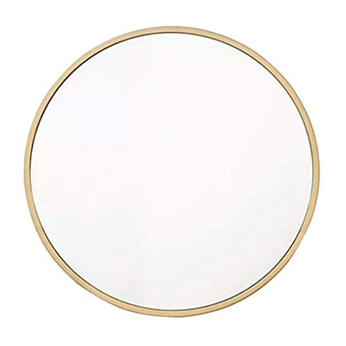 Cosmeticaspiegel make-up spiegel ronde metalen wandspiegel badkamer decoratieve woonkamer slaapkamer wasruimtes goud ingelijst 40cm
