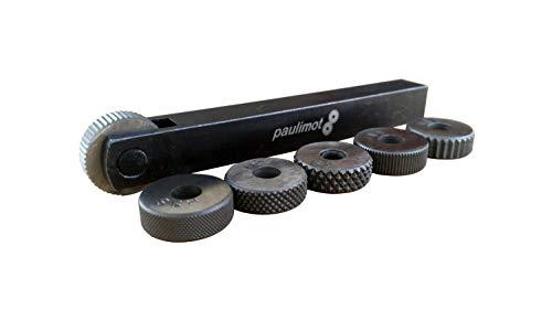 PAULIMOT Rändelrad Rändelwerkzeug mit 6 HSS-Rädern, 12x12mm