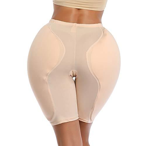 MOXIN Hüfte Push Up Butt Lifter Höschen Hose Po Gepolstert mit Silikon Pads, Damen Shapewear Hip Enhancer Figurformender Miederpant Unterhose,Gelb,XL