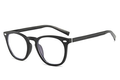 Gimdumasa Gafas para Ordenador Anti luz Azul Antifatiga Sin Graduacion Gafas Luz Azul para PC Gaming Lectura Video Juegos Lentes Transparente Hombre Mujer (581 Negro)