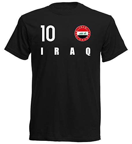 Nation Irak T-Shirt Trikot Wappen FH 10 SC (XXL)