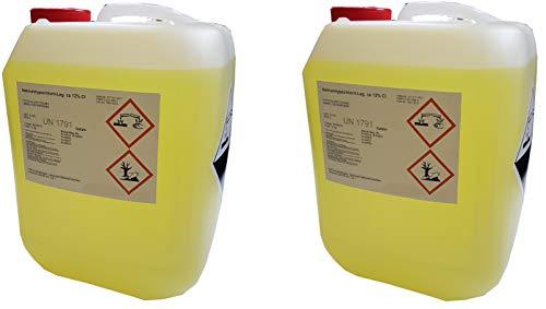 Chlorbleichlauge Natriumhypochloritlösung 12% 2x12 kg Aktiv Chlor flüssig UN1791